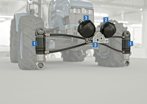 Tractor Front Suspension : Adaptive suspension system keeps tractors comfortable and