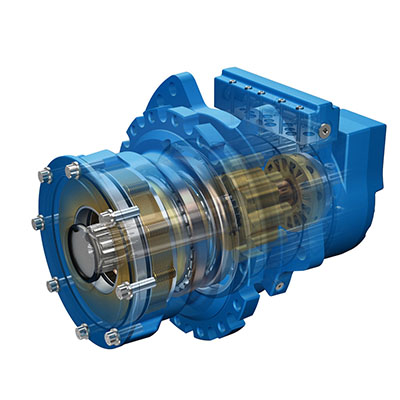 Hydraulic track motor features high starting torque low for Hydraulic track drive motor